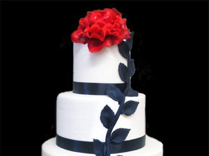 Tmx 1328126958306 RedandBlack Philadelphia, Pennsylvania wedding cake