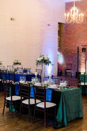 Velvet Table Set Up