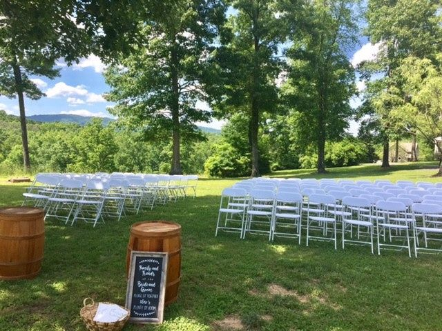 There are several beautiful ceremony sites to choose from!
