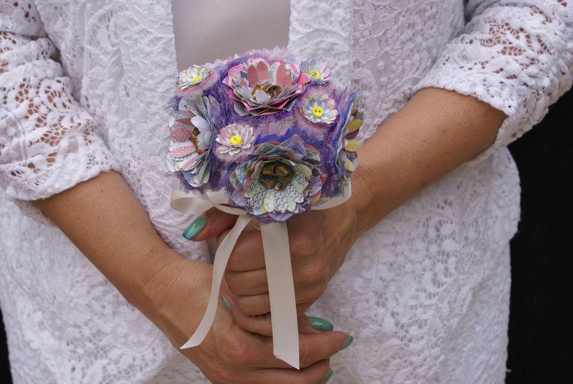 Bride's maid paper bouquet
