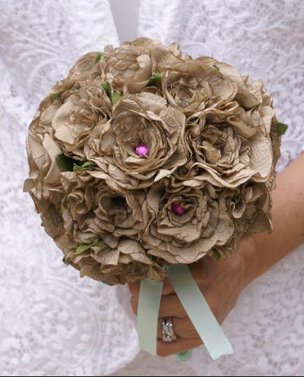 Singed satin bouquet