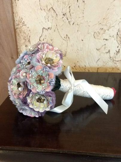 Bridal paper flower bouquet