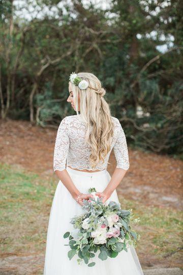 Hair crown | Photography:  Natalie Broach | Flowers:  Verdure Florals