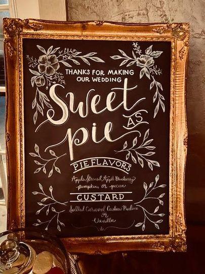 Dessert Sign Wedding
