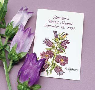 Beautiful Canterbury Bells seed packets are perfect for a summer wedding or someone looking for that...