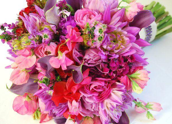 Bridal Bouquet with rhinestone handle treatment