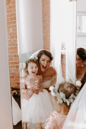 Bride & Flower Girl