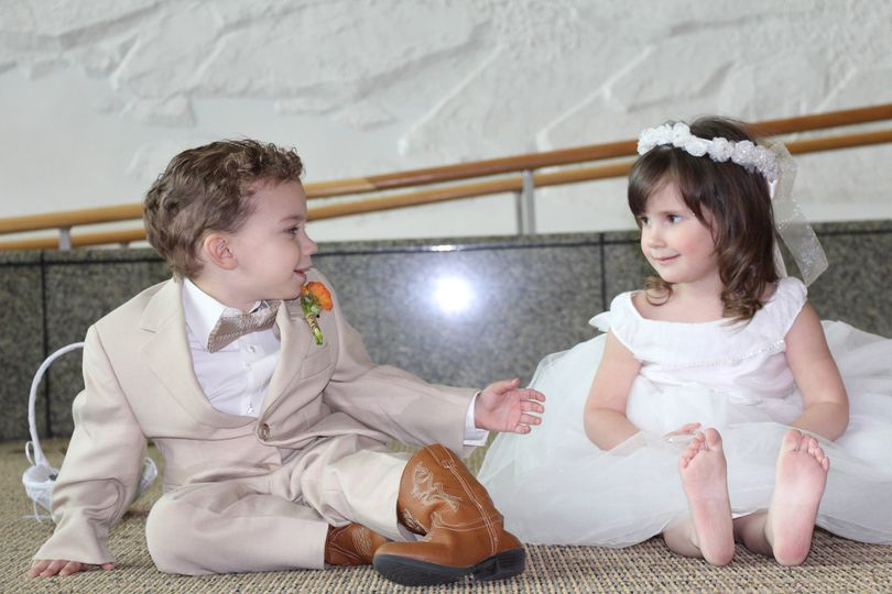 Young Love.  Ring Bearer and Flower Girl.