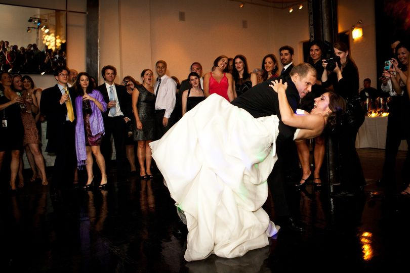"""Very Chic wedding at a downtown upscale venue.  Note the custom """"all black"""" dance..."""