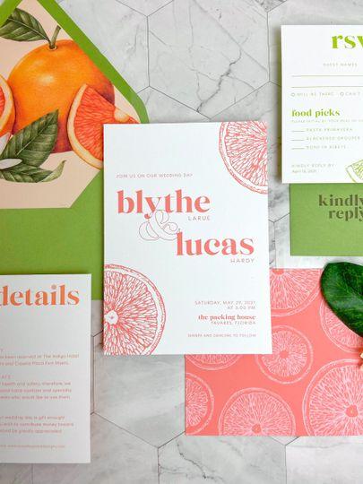 Citrus Invitations