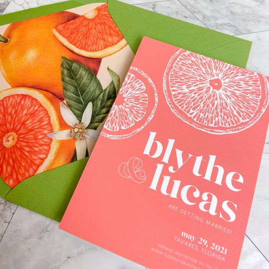 Citrus save the date