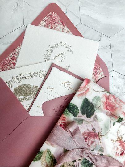 Invitations w/ handmade paper