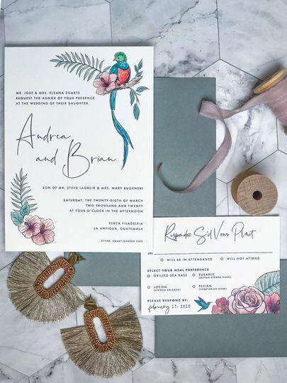 Custom watercolor designs