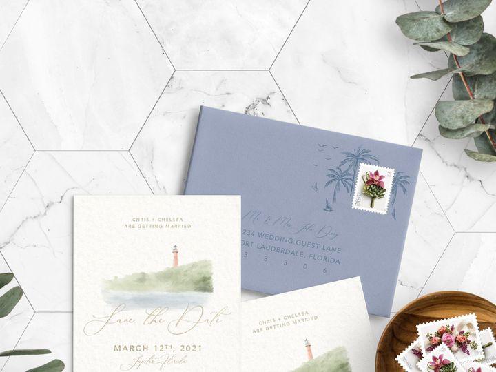 Tmx 06 08 20 Customsavethedate Simmonsdowney Jupiterlighthouse 51 1979201 159519421220618 Fort Lauderdale, FL wedding invitation