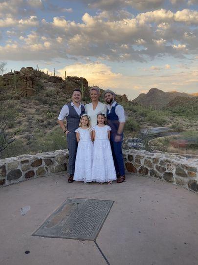 Gates Pass wedding