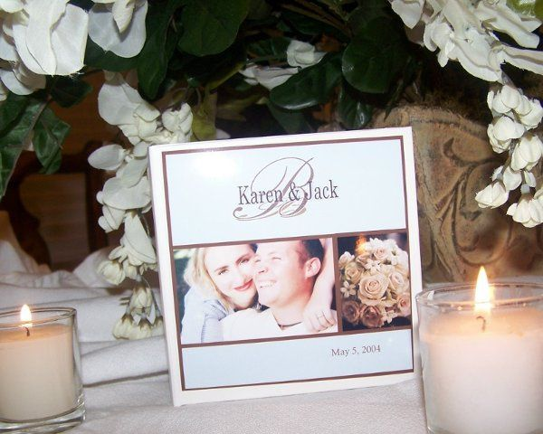 This design can be personalized with your own photo, wedding info and your choice of background...