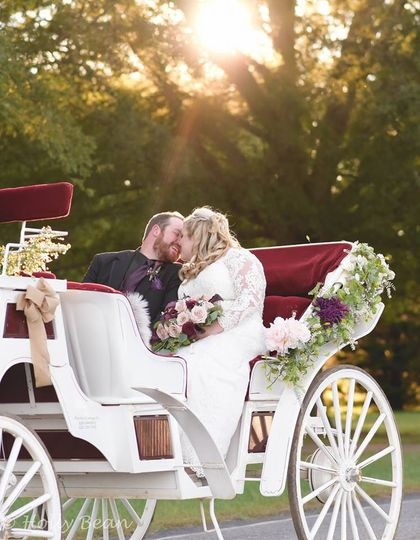 Romantic ride after ceremony