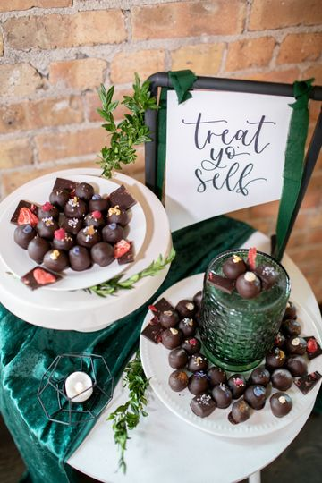 A chocolate treat table