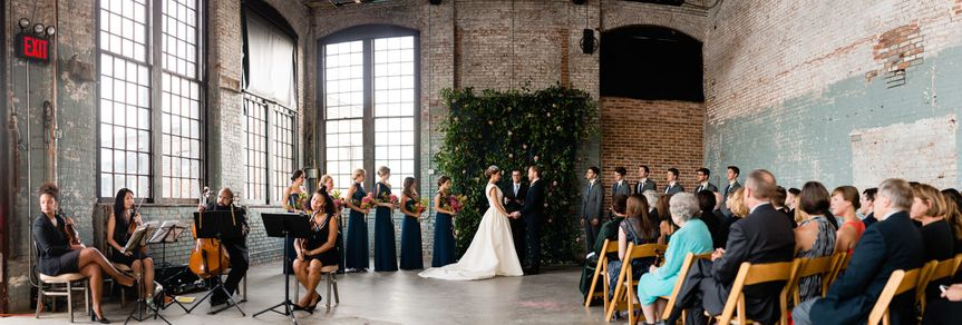 The North Hall is most often used as a ceremony space. This room has a retractable movie screen and...