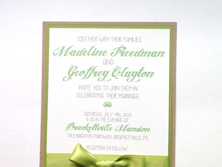 Tmx 1425948586615 Img2727 Baltimore wedding invitation