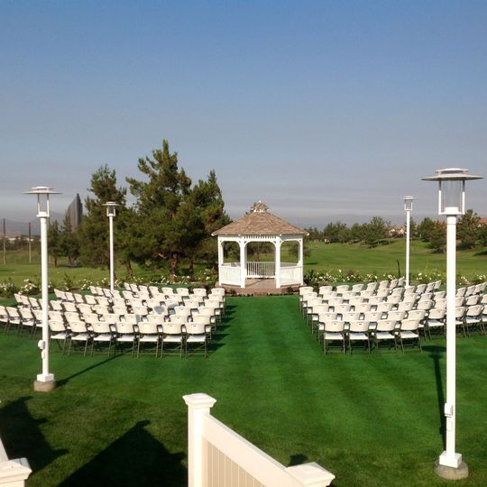 Wedding ceremony area set-up