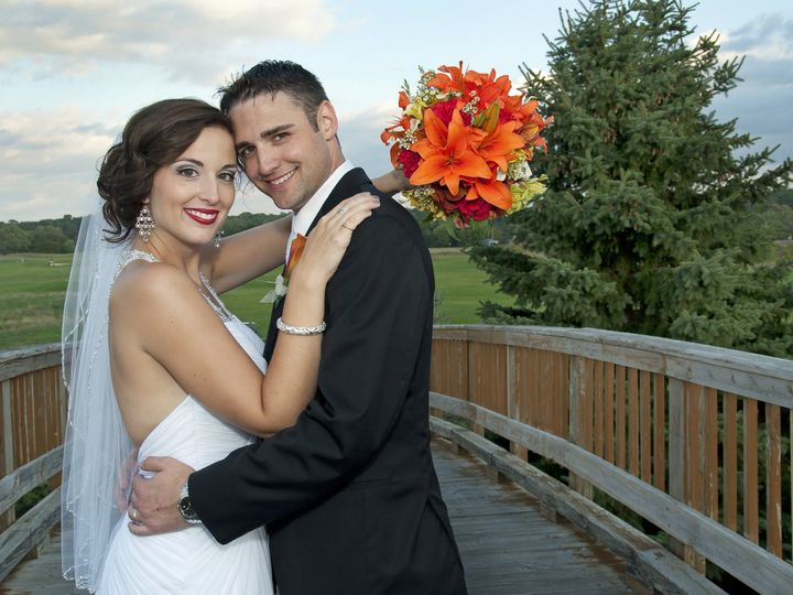Tmx 1420394166302 Cindy And Jason On A Bridge Racine wedding florist