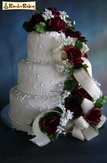 Bamboo Bakery Wedding Cake Phoenix AZ WeddingWire