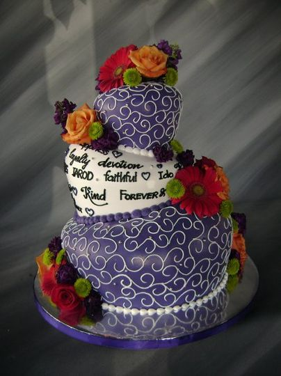 Topsy tervy wedding cake