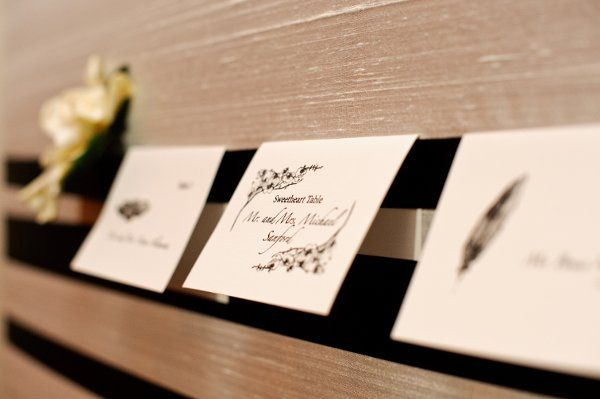 Escort Cards - Photo by Brian Dorsey Studios