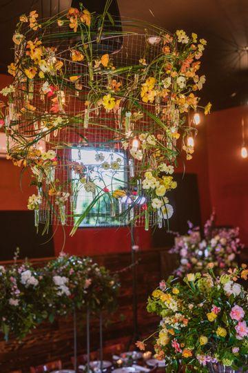 Round flower chandelier