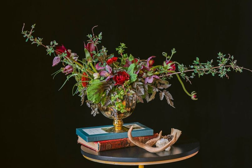 Styled low centerpiece