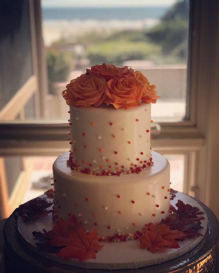 2-tier fondant cake