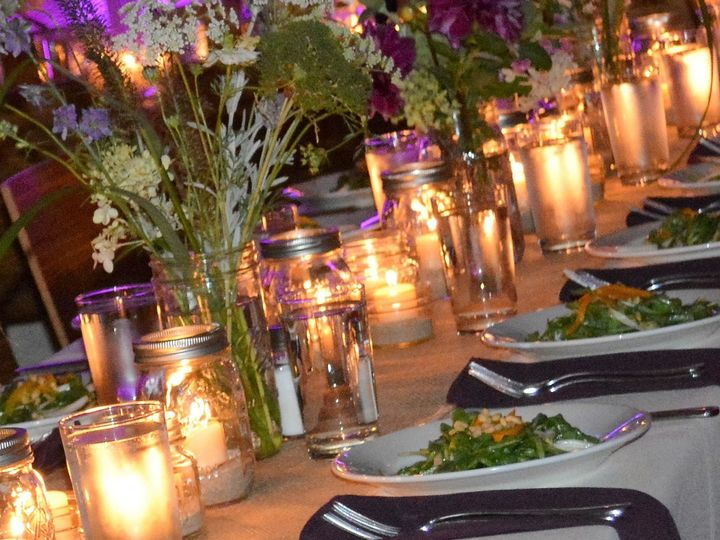 Tmx East End Entertainment Dj Bands Hamptons North Fork Westhampton Purple Uplighting East End Events Catering Table Setting 2 51 707301 Mattituck, New York wedding catering