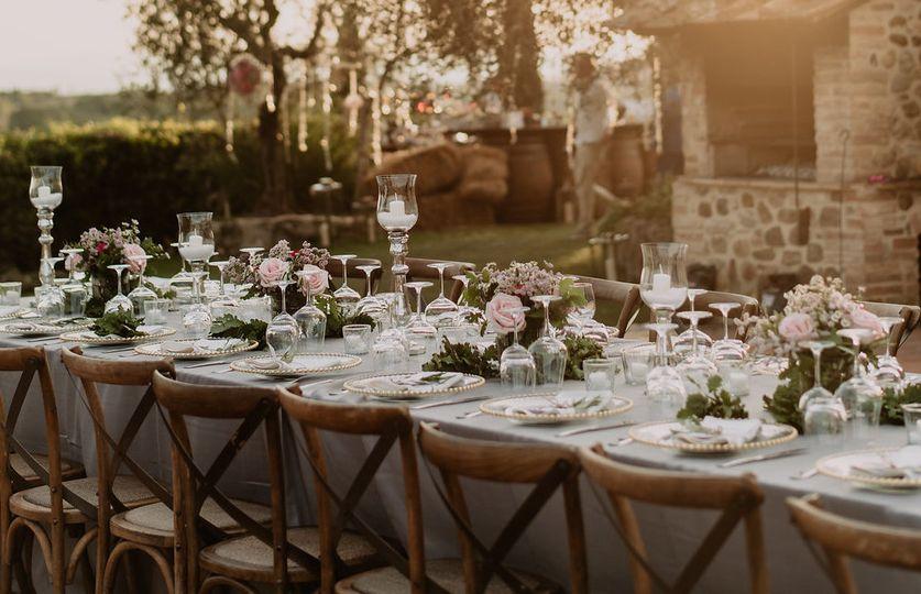 Table setting Tuscany