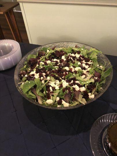 Mixed greens salad with feta a