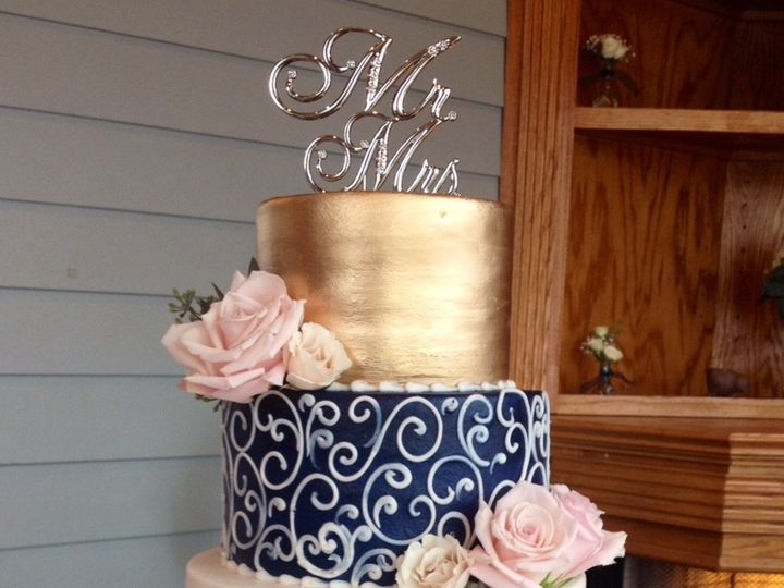 Tmx 1472953543102 Chalk And Gold Marietta, GA wedding cake