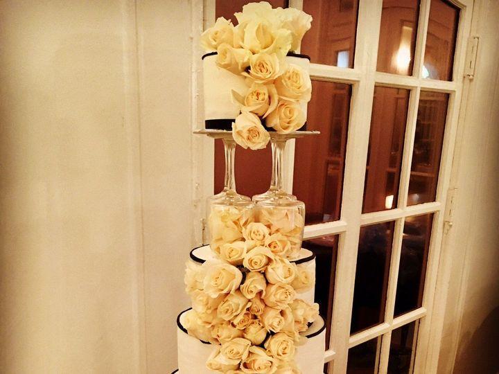 Tmx 1476111352191 Roses And Classic Tower Cake Marietta, GA wedding cake