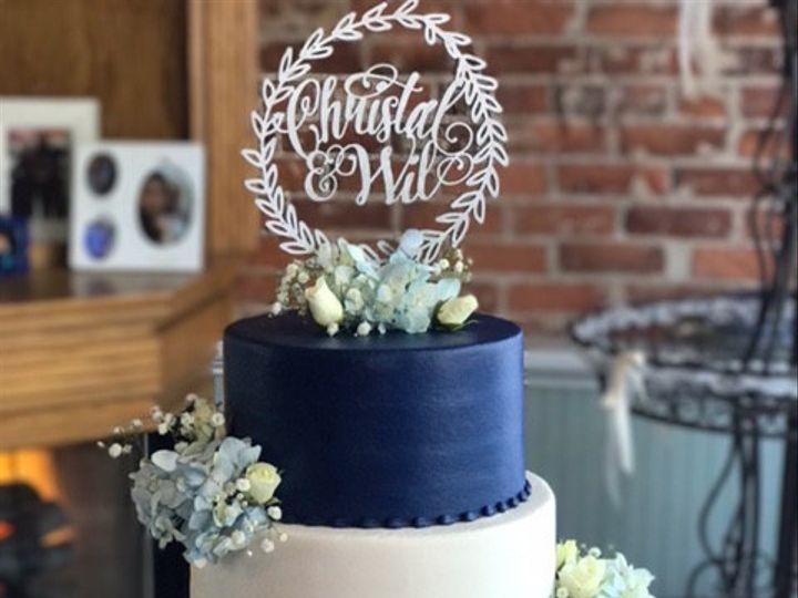 Tmx 1478123026412 3 Tier Black And White Flowery Lacey Marietta, GA wedding cake