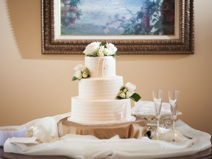 Tmx 1484000442957 Buttercream Monogram Marietta, GA wedding cake