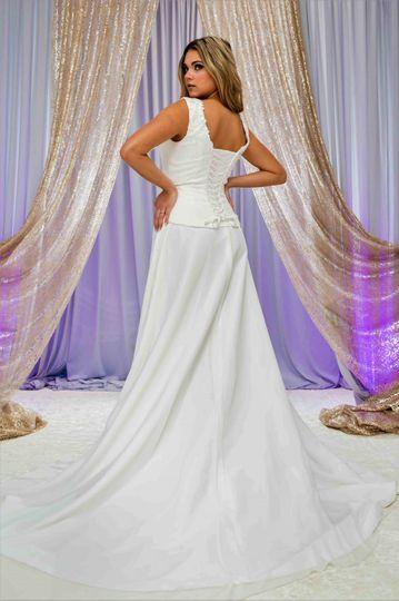 Floor-length white gown
