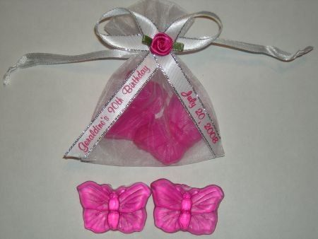 Butterfly soap favors