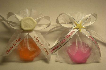 Seashell soap favors