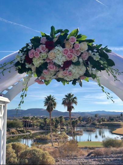 Romantic arch flowers