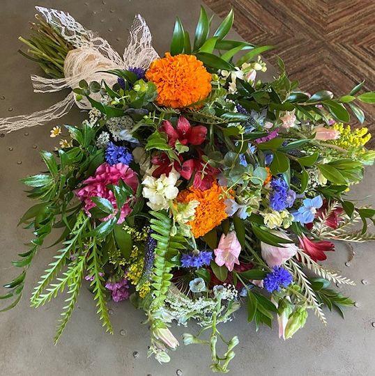 Oversized wild flower bouquet