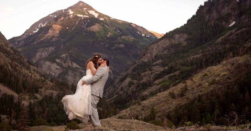 Bride and Groom in Ouray
