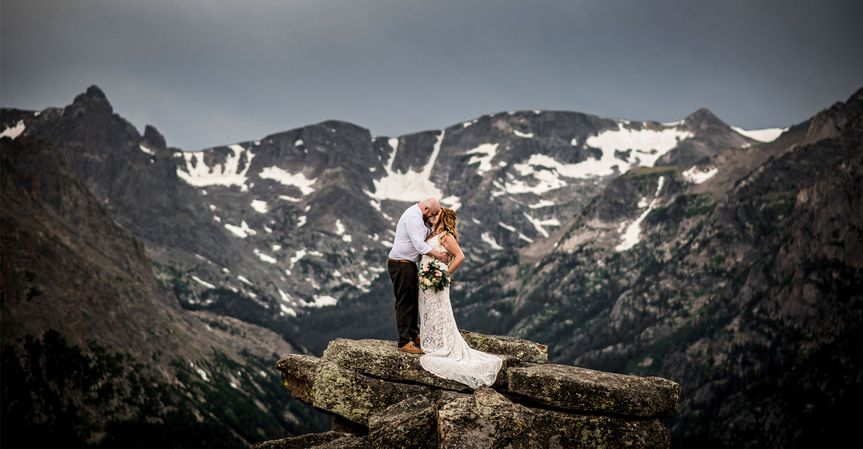 Bride and Groom in RMNP