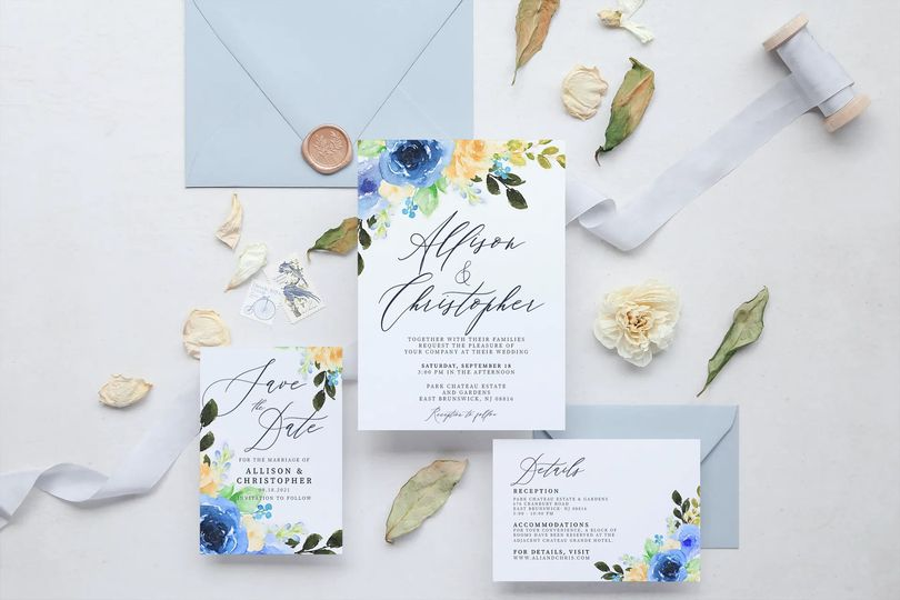 Wedding stationary collection