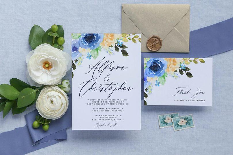 Invitation & thank-you card