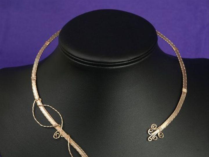 Tmx 1265821463829 BR24018SGBridalWireChokerSilverGoldFilled Dunedin wedding jewelry
