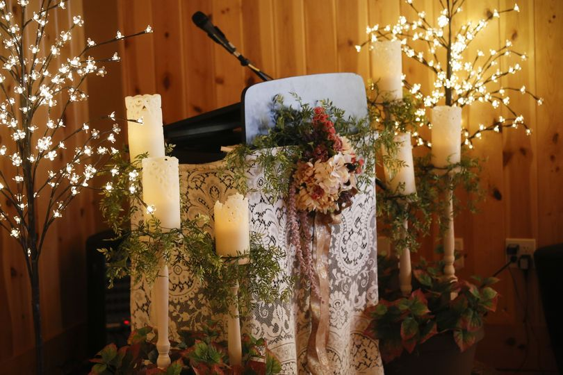 Candles, lights, and decor